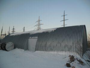 Бескаркасные арочные стационарные ангары - ТОО «Темiр Астана»